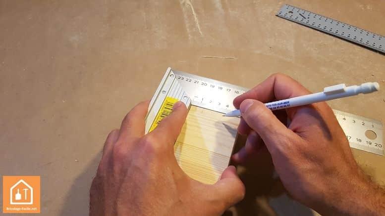 porte crayon  en bois - mesure