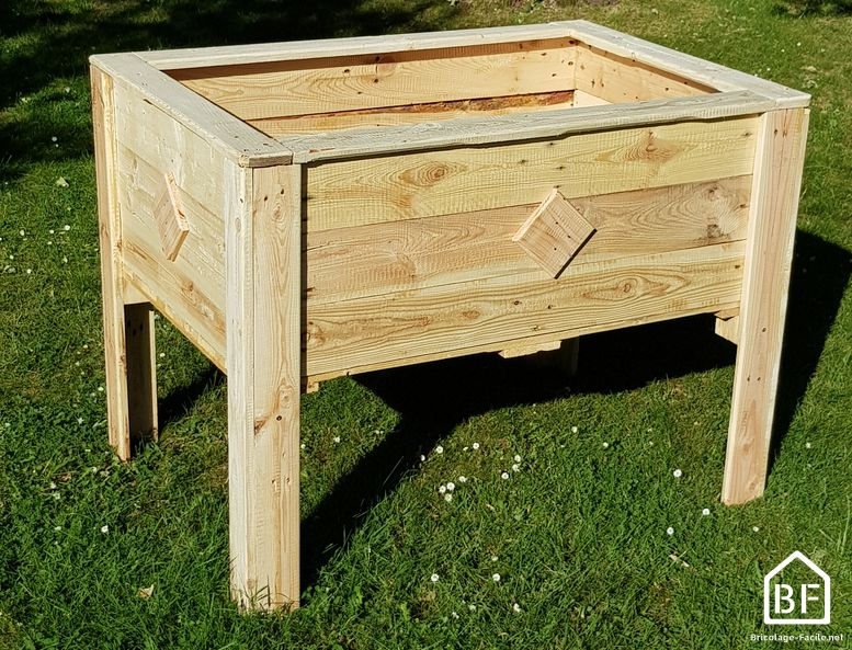 portager en bois de palette en entier