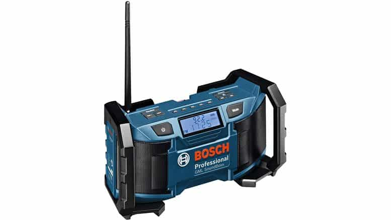 radio Bosch Pro GML SoundBoxx sur fond blanc