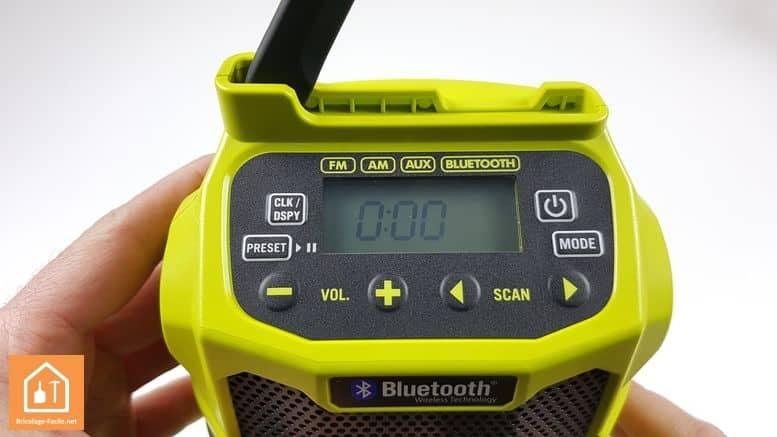 radio de chantier ryobi réglage des stations