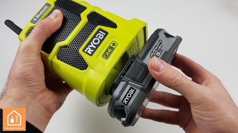 radio de chantier ryobi avec batterie ONE+
