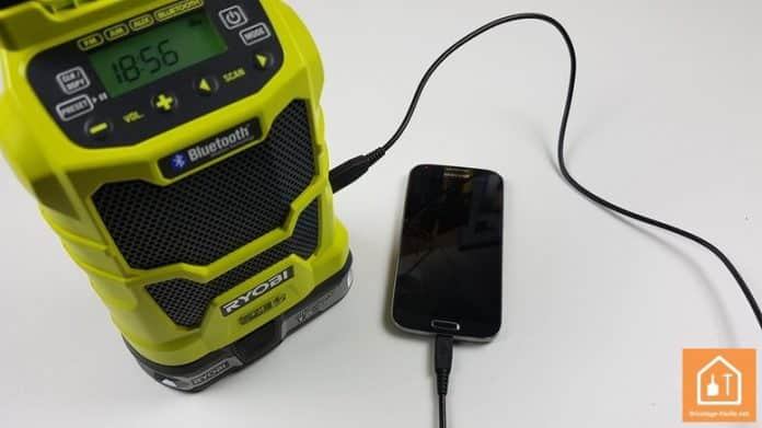 radio de chantier sans fil de Ryobi