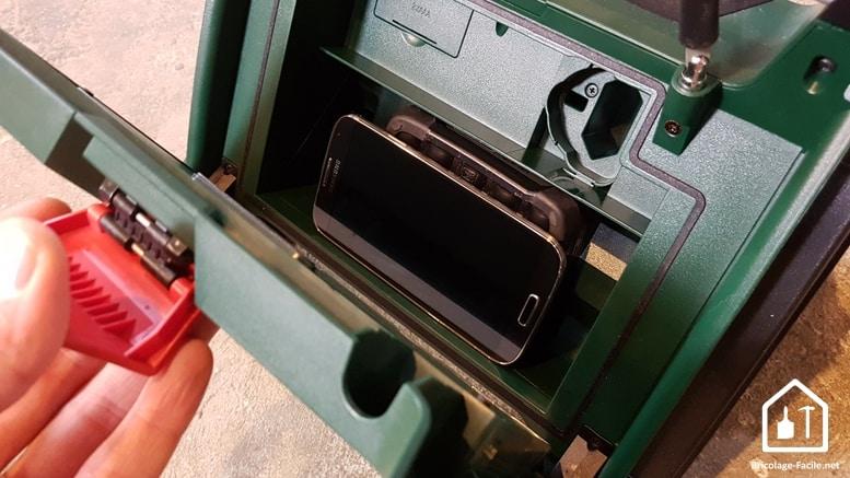 Radio sans fil PRA MultiPower de Bosch - emplacement pour Smartphone