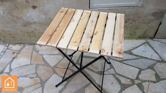 table IKEA rénovée