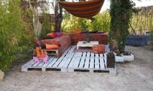 Idee Deco Jardin Palette. Excellent Salon De Jardin En Palette With ...