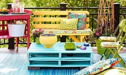 salon de jardin en palette