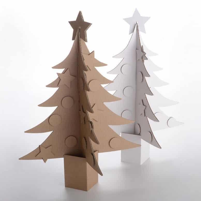sapin en carton 5 diy pour noel avec les enfants bricolage facile. Black Bedroom Furniture Sets. Home Design Ideas