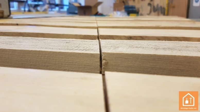 sapin en bois de palettes - découpe du sapin