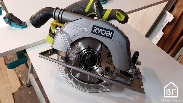 scie circulaire sans fil brushless de Ryobi R18CS7
