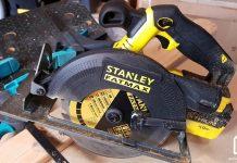 Scie circulaire sans fil Stanley