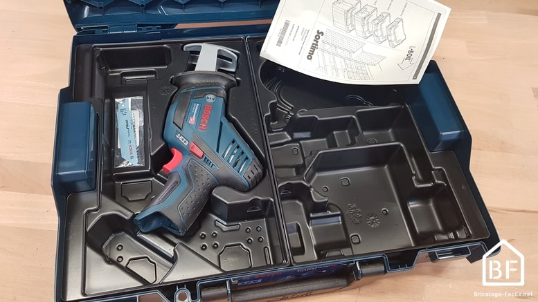 Scie sabre Bosch Pro GSA 12V-14 dans la L-BOXX