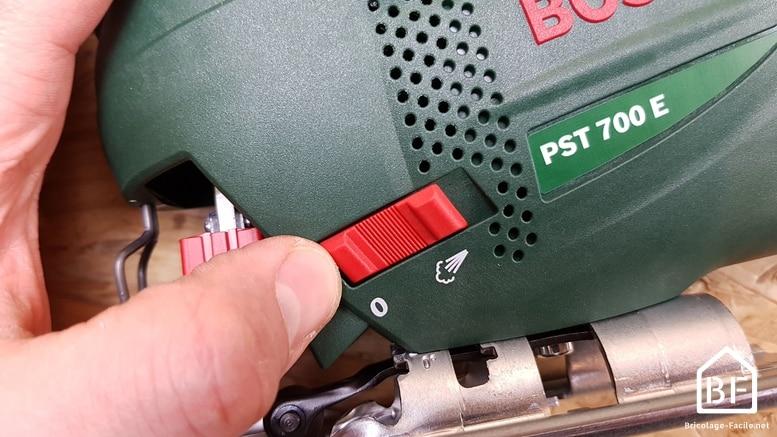 fonction soufflerie d'une scie sauteuse Bosch