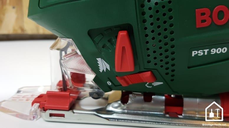 scie sauteuse PST 900 de Bosch - réglage pendulaire