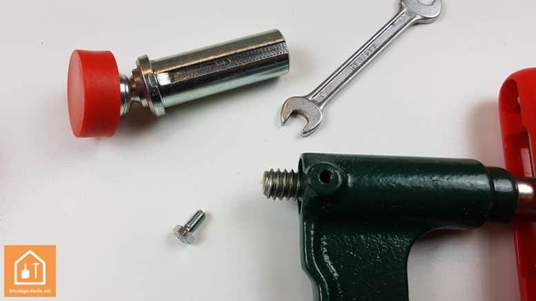 Serre-joints à pompe bessey-ser - changement d'option
