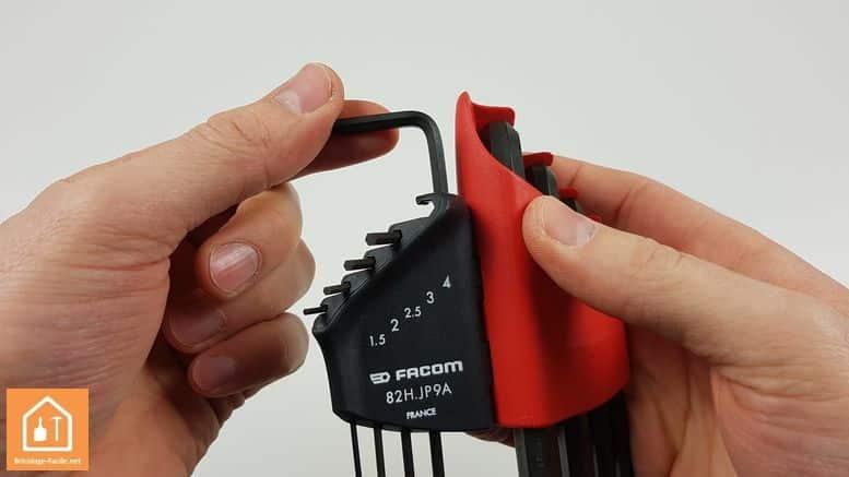 set de clés 6 pans de Facom - la clé dégagée