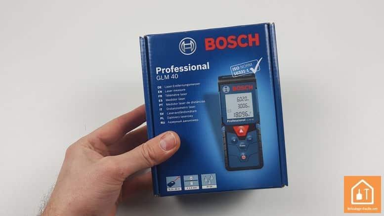 Télémètre laser GLM 40 de Bosch Professional - coffret carton