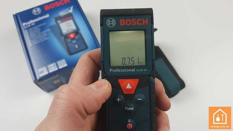 Télémètre laser GLM 40 de Bosch Professional - écran non éclairé