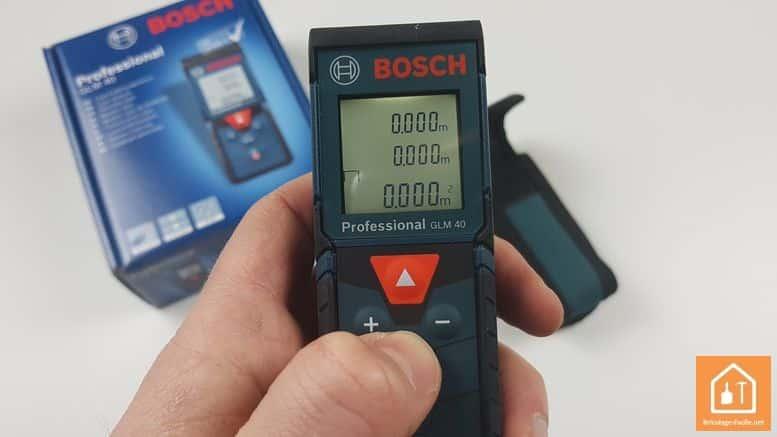 Télémètre laser GLM 40 de Bosch Professional - mesure aire