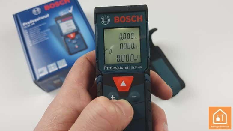 Télémètre laser GLM 40 de Bosch Professional - mesure volume