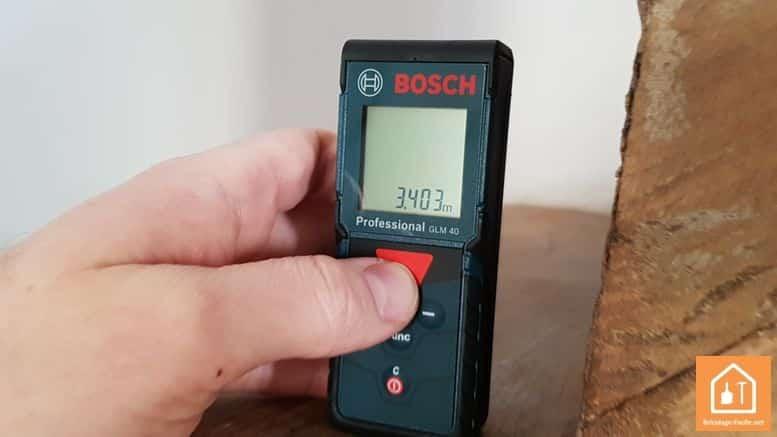 Télémètre laser GLM 40 de Bosch Professional