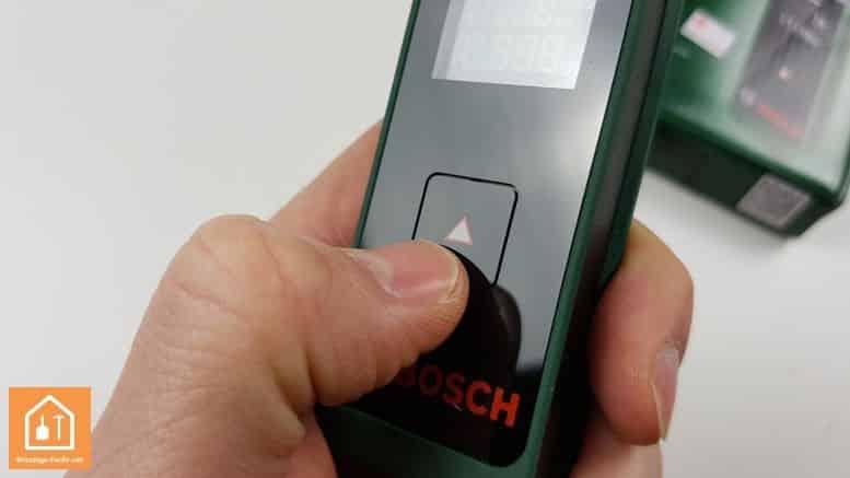 télémètre laser Zamo de Bosch - bouton unique