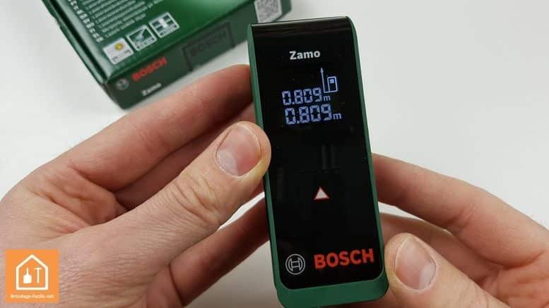 télémètre laser Zamo de Bosch - écran rétro éclairé