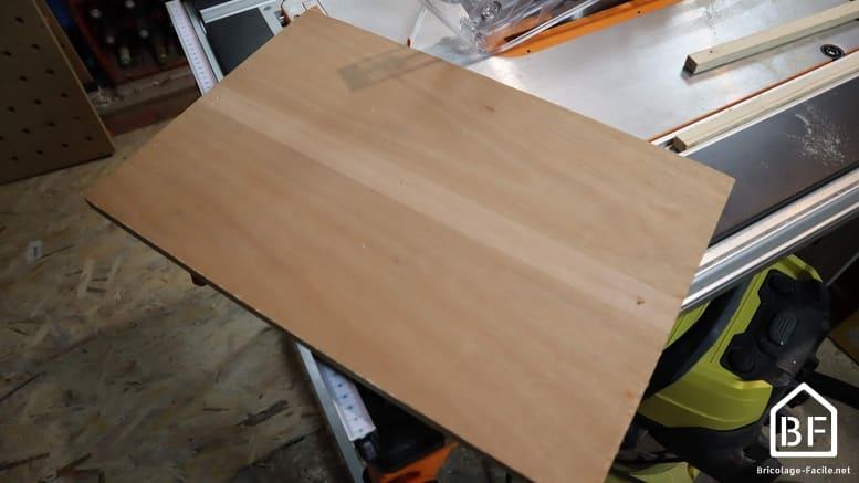 plateau du traineau de scie sur table