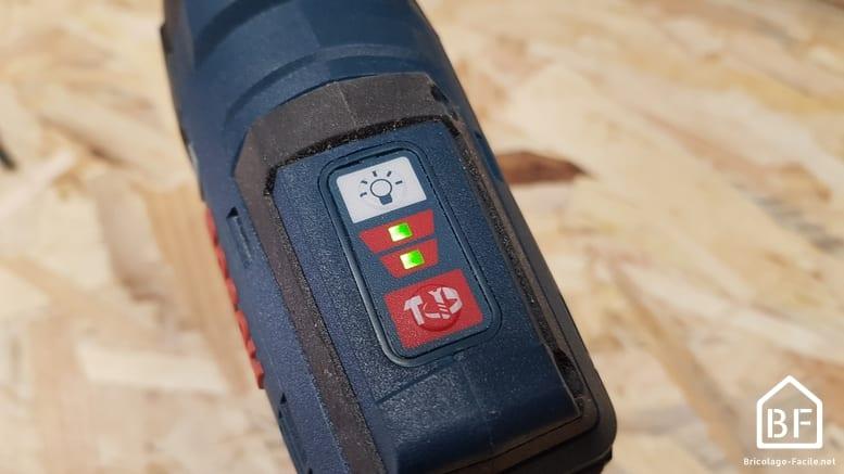 boutons de sléection de la vitesse