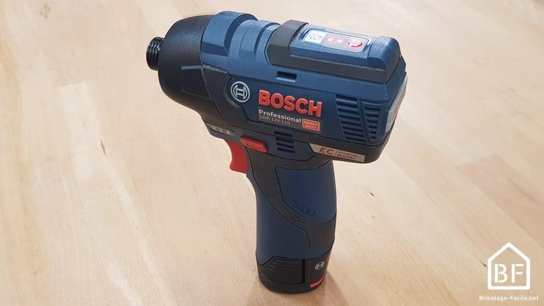 Visseuse à choc Bosch Pro GDR 12V 110 sur établi