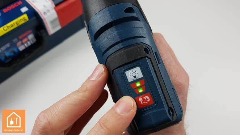 visseuse à chocs GDR 10,8 V-EC de Bosch Professional - boutons de réglage de la vitesse