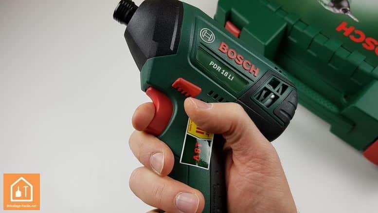 Visseuse à chocs sans fil PDR 18 LI de Bosch - les boutons