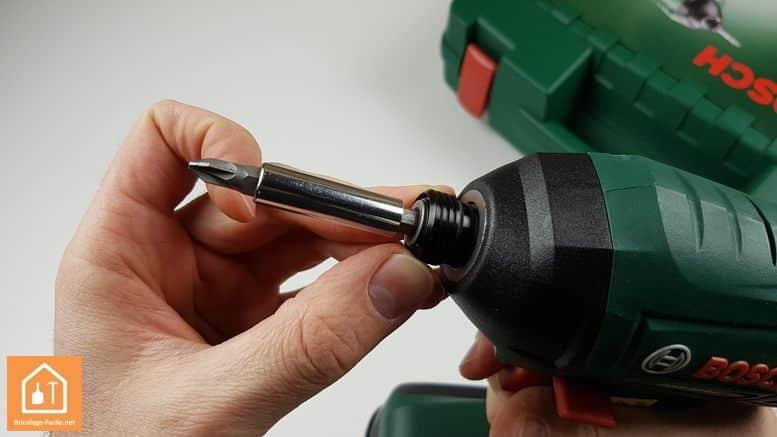 Visseuse à chocs sans fil PDR 18 LI de Bosch - Le porte embout